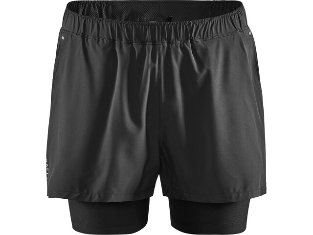 Craft ADV Essence Short 2 en 1 Stretch Homme, black